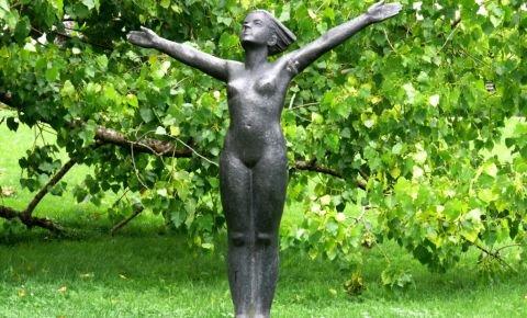 """Skulptūra """"Mana zeme"""""""