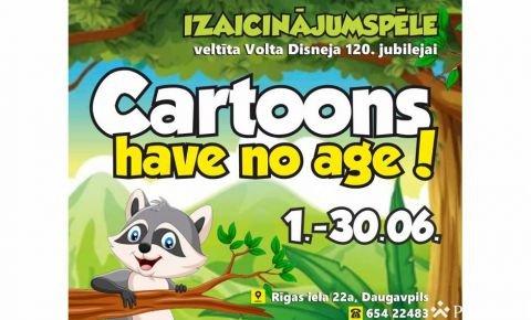 """Izaicinājumu spēle bērniem un jauniešiem """"Cartoons have no age!"""""""