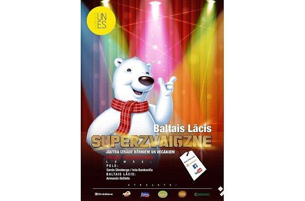"""Izrāde bērniem """"Baltais Lācis - superzvaigzne"""" Valmieras Kultūras centrā"""