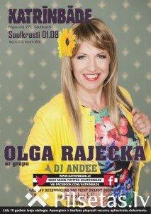 """Olgas Rajeckas koncerts mūzikas klubā """"Katrinbāde"""""""