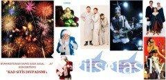 """Humoristiskais Jaunā gada sagaidīšanas koncertšovs """"Kad sitīs divpadsmit"""". Jaungada salūts"""