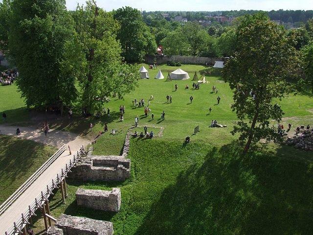 Сад замка Цесиса