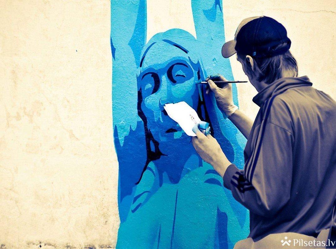 Jelgavā taps lielformāta grafiti zīmējums veltīts Latvijas simtgadei