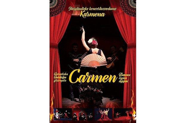 """Flamenko koncertuzvedums """"Karmena"""" Jelgavas kultūras namā"""
