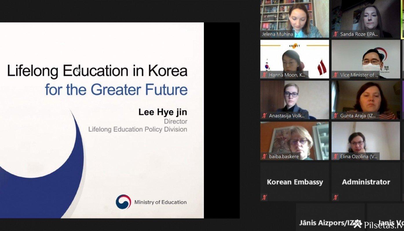 Seminārā iepazīstas ar Korejas Republikas pieaugušo izglītības sistēmu un atbalstu