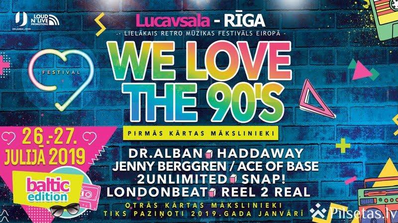 """Rīgā norisināsies lielākais retro mūzikas festivāls Eiropā - """"We Love The 90's"""""""