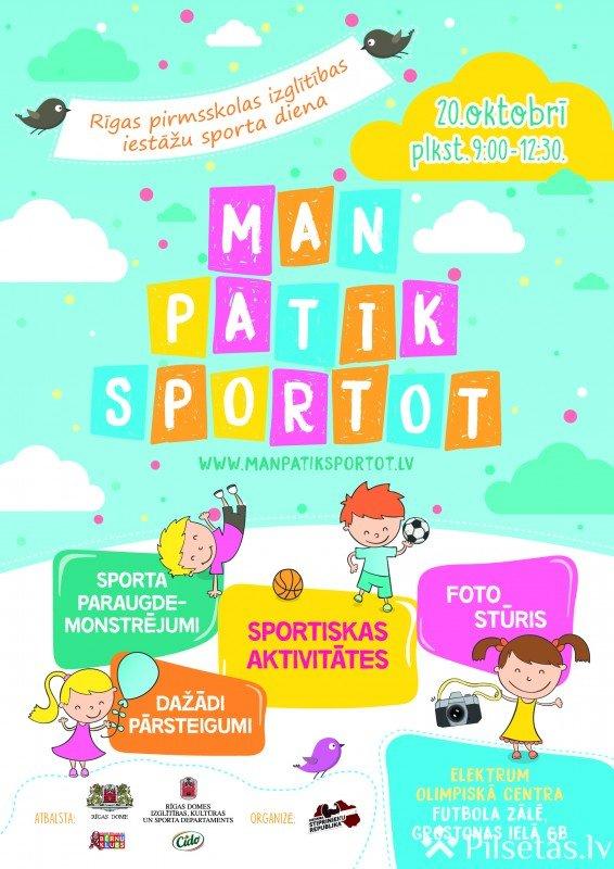 Trešo reizi Rīgā notiks sporta diena pirmsskolas vecuma bērniem
