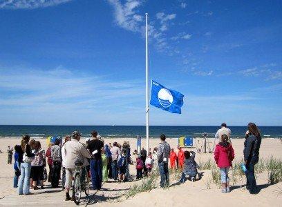 Пляж синего флага