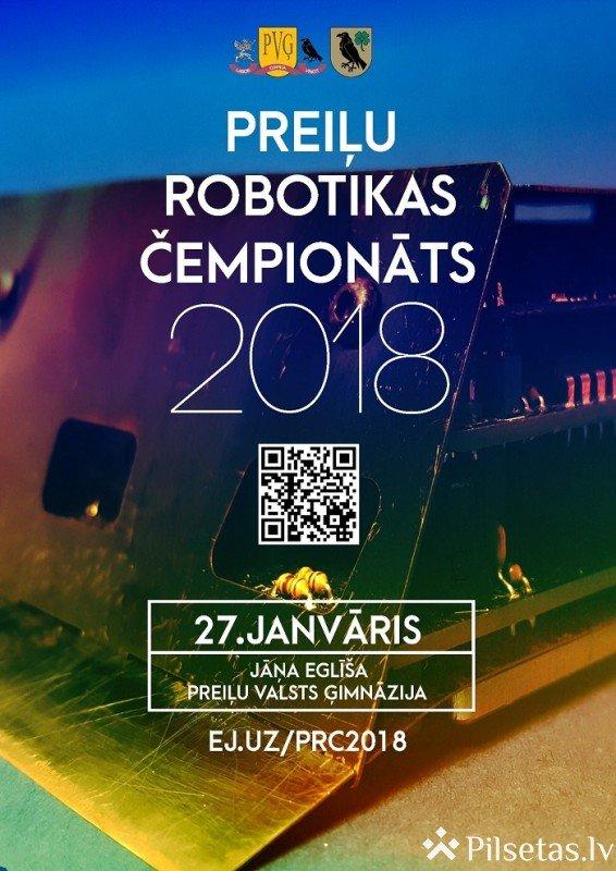 27. janvārī Jāņa Eglīša Preiļu Valsts ģimnāzijā notiks Preiļu robotikas čempionāts