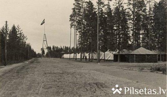 Место летнего лагеря Латвийской армии в Литене